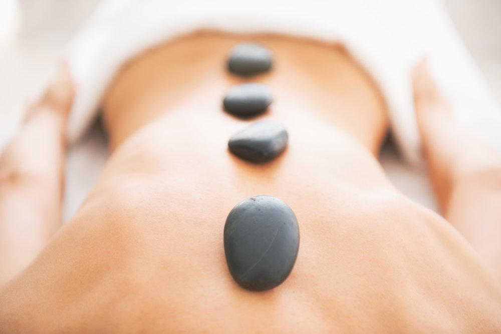 Hot stone massage form Suzanne Schaper is the perfect for relaxing.